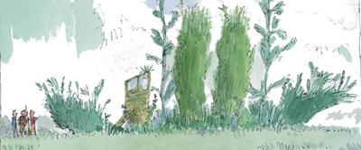 Quentin Blake's 'Green Ship' at RHS Garden Rosemoor